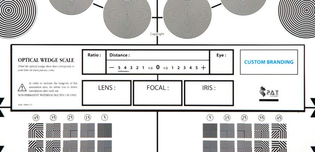 Optical-wedge-scale