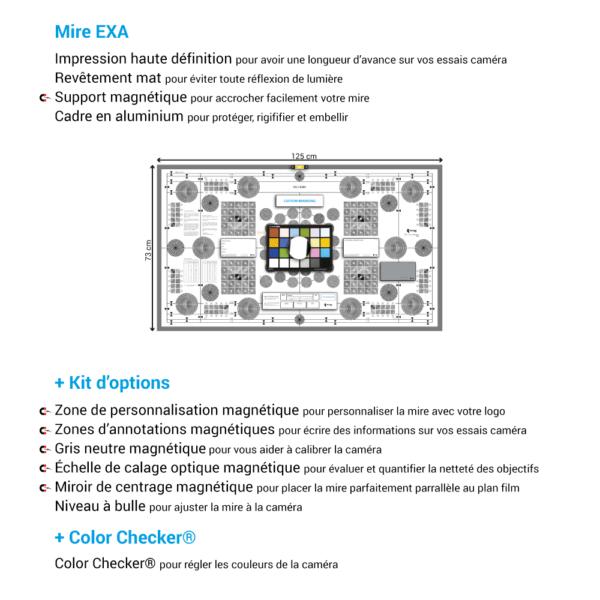 Mire de calage optique EXA de chez Prêt À Tourner avec Kit d'options et Color Checker Classic